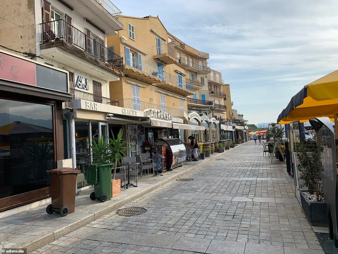 The popular port on themountainous Mediterranean island has a strip of bars, all facing out towards the waterfront