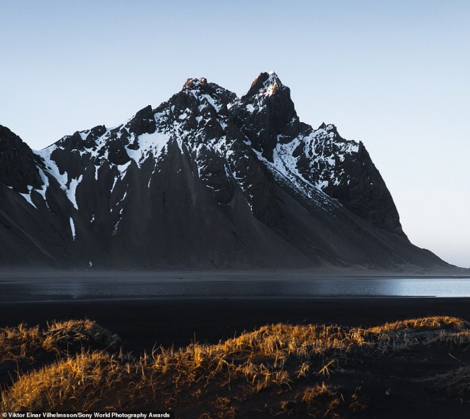Viktor Einar Vilhelmsson has entered this epic image of Iceland's Vestrahorn mountain in the landscape category. The Icelandic photographer described Vestrahorn as a 'beautiful mountain that is just by the sea'