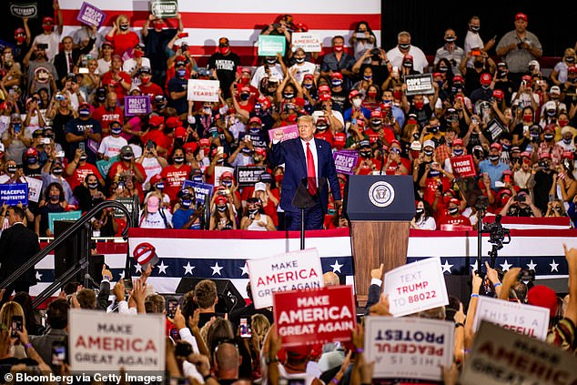 A Trump rally inin Henderson, Nevada, on Sunday night drew thousands of supporters.