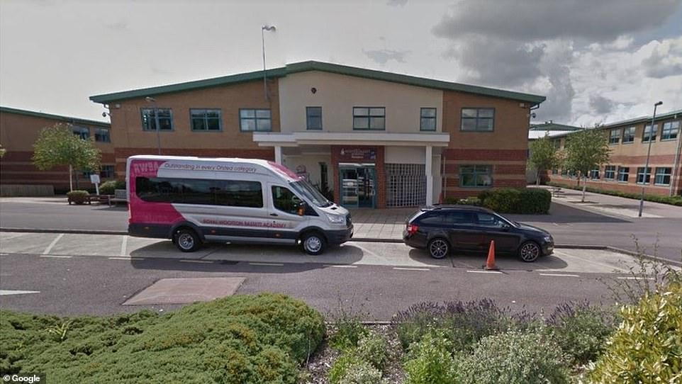 Pictured: Royal Wootton Bassett Academy near Swindon, Wiltshire where 284 students are self isolating