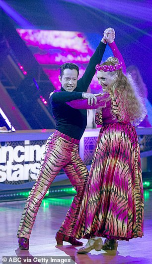 Baskin dancing with Pasha Pashkov on Dancing with the Stars last night