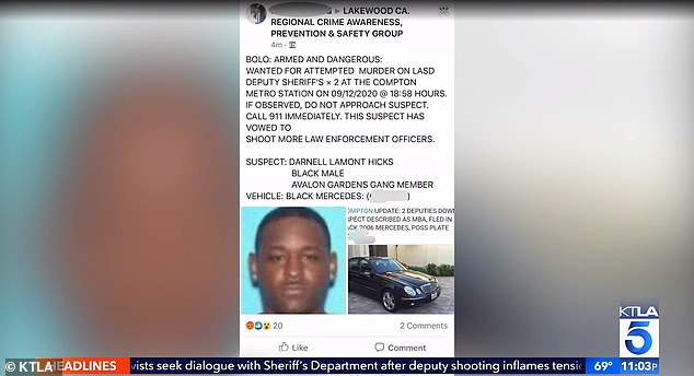 This 'be on the lookout' alert containing Hicks' photo, name, address and driver's license number, falsely claimed that he is wanted to attempted murder