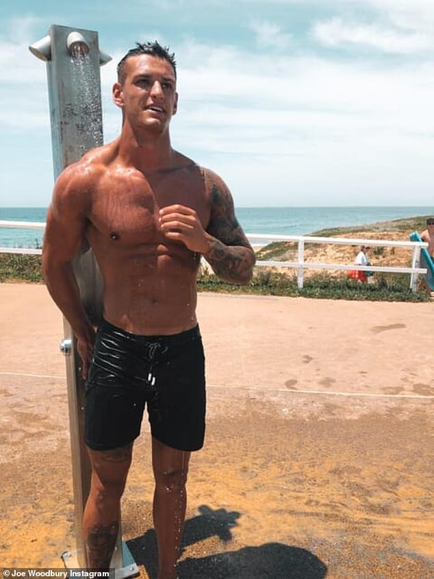 Front runner: Joe Woodbury (pictured) from Newcastleis one of the many men who will be vying for Elly's heart