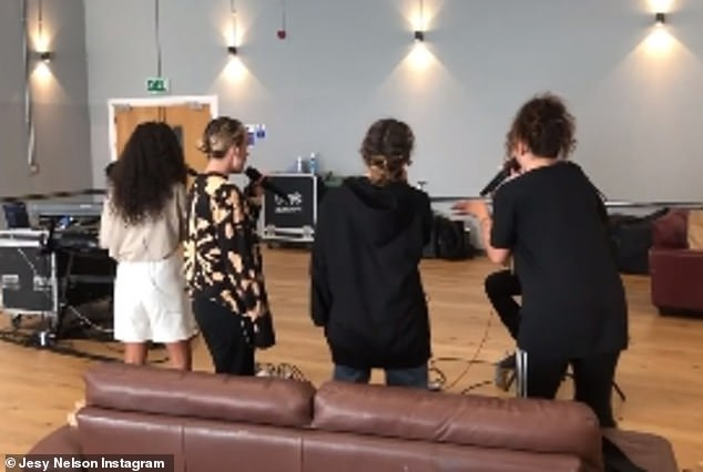 Candid: Explaining the incident to her concerned fans, Jesy later took to Instagram to share a video from rehearsals as she revealed she had suffered a panic attack