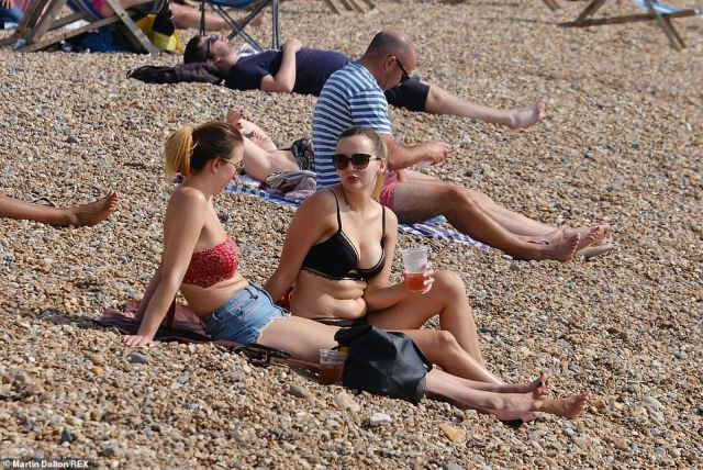 Yesterday was the hottest September day in four years at 86F, with Britons all over the country flocking to beaches and parks to make the most of the unseasonal weather