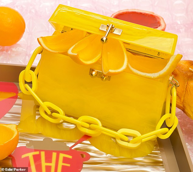 Tell us how you really feel: She slings a sunny yellow bag on her forearm and says' talk about fresh as a f*ucking daisy'