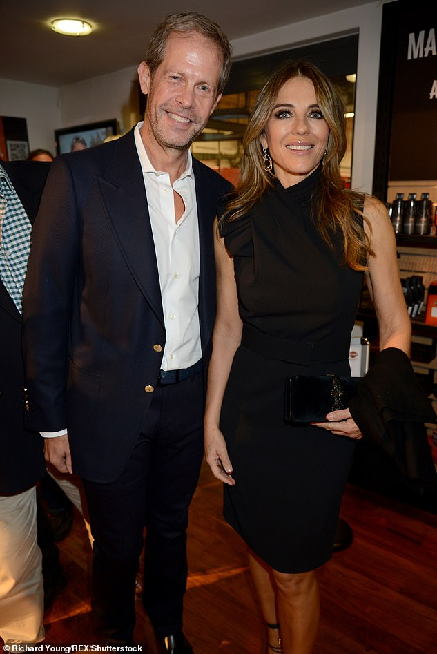 New fling? Earlier this month, Lizzie stepped out for dinner with property developer Niccolo Barattieri di San Pietro, who was previously linked toElizabeth Hurley (pictured)