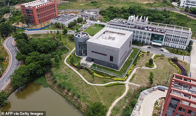 It has been alleged that the Wuhan lab in China, pictured above, is where the coronavirus was developed. However, there is no evidence to back this claim