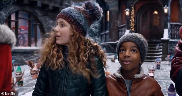 The 13-year-old SAG Award nominee replied: 'Well, if she designed this place, I think it should be called Mrs. Claus Village'