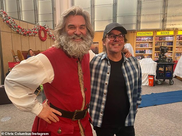 'Wrapped!' Oscar-nominated producer Chris Columbus (R, pictured February 5) directed and co-wrote the merry sequel with The Christmas Chronicles screenwriter Matt Lieberman