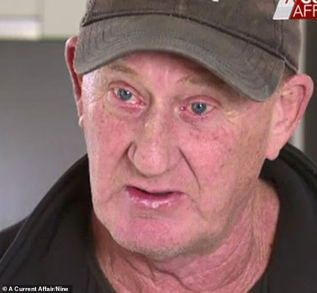 Glen Atkins (pictured) said his son 'has never hurt anybody in his life' and he hopes the officer who kicked him is stood down