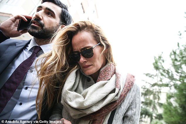 Le Mesurier's wife Emma H Winberg (pictured on November 13) left the house they shared in February with all their belongings