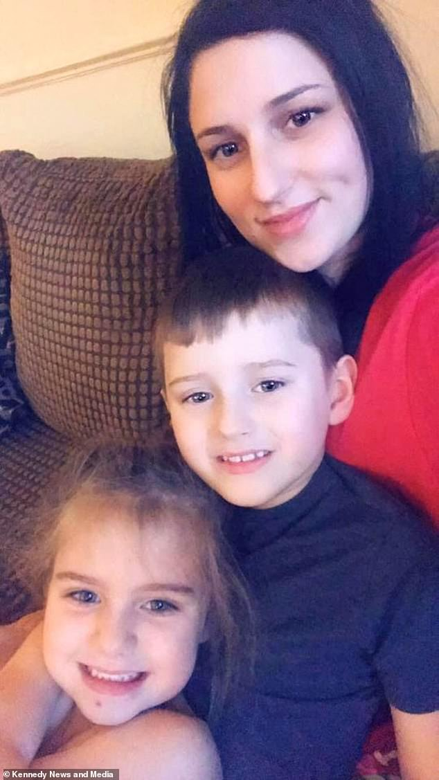 The sweet young boy was one of the first friends Sophie made when she moved to her new school two years ago. Pictured:Seven-year-old Sophie Clancy with mum Jacklyn Clancy and brother TJ, nine
