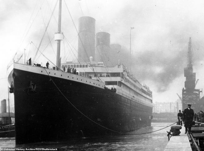 'Most people who write about Titanic, they don't know that northern lights were seen on that night,' independent weather researcher and retired computer programmer Mila Zinkova of California told Hakai magazine . 'Even if the compass moved only one degree, it already could have made a difference,' she added. Pictured, the Titanic seen at her berth in Southampton