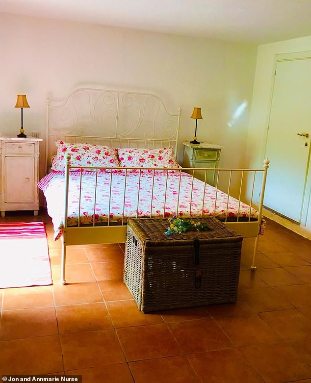 In addition to the fully furnished villa, all of the winner's transfer taxes and legal fees will be covered, and two paid-for flights to Italy from anywhere in Europe will be thrown in so contracts can be signed, with two nights in a hotel and car hire also included. Pictured: a bedroom