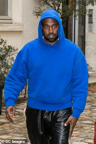 Kanye West on Tuesday shared a text conversation about possibly taking legal action against Universal and Sony