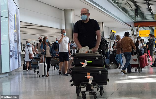 In Britain travellers are currently required to self-isolate for two weeks if coming home from places where the coronavirus infection rate is high, such as France, Spain and Portugal