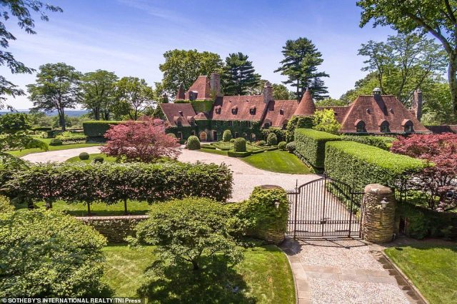 The Greenwich home features six bedrooms, seven full bathrooms and three powder rooms