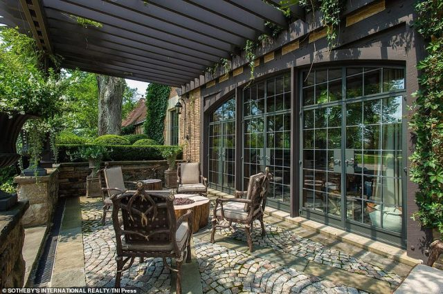 The couple also added new plumbing and ventilation. Hilfiger said they even contracted a company in Turkey to fabricate the terra-cotta tiles to match the originals and hired landscape architect Miranda Brooks to design the gardens, hedges and fountains