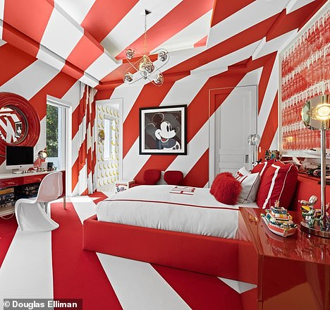 There's plenty of pop art and Americana throughout the residence