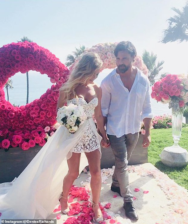 Brandi said: 'To me it was not a big deal, two girls getting drunk and making out, but of course I didn't know she was married at this point, she never mentioned Aaron once.' Denise married husband Aaron on September 8, 2018.