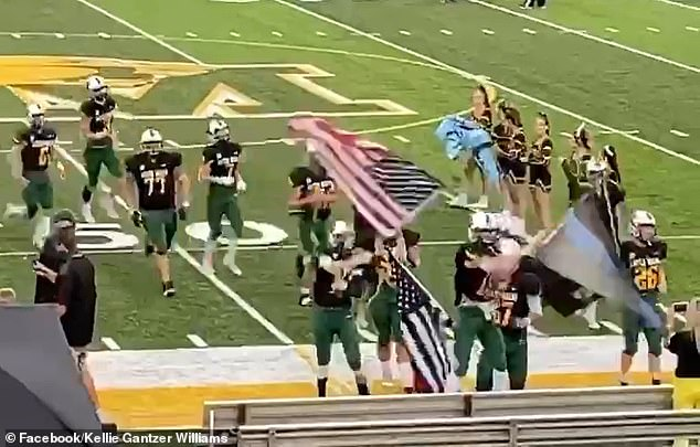The superintendent said he didn't want to set a precedent for allowing any flags at games aside from the school flag and the American flag