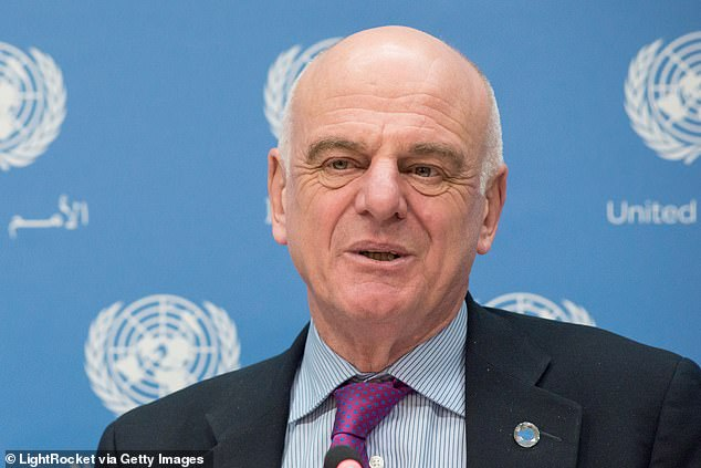 Appearing before the Foreign Affairs Committee, Dr David Nabarro (pictured) told MPs: ¿It¿s a terrible situation... a health issue has got so out of control it¿s knocking the world into not just a recession but a huge economic contraction'