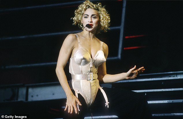 Mainstay: The Blonde Ambition artist was seen performing in Holland in July 1990