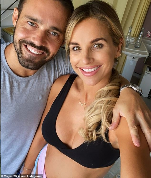 Honest:Spencer Matthews, 32, has told how he was motivated to quit drinking as he believed his wife Vogue Williams, 34, may have left him if he didn't