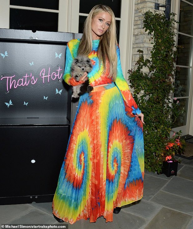 Friendly Gathering: 39-year-old Paris Hilton had her eyes on Monday at a screening of Outside Friends and her new documentary This Is Paris, which was held in Los Angeles.