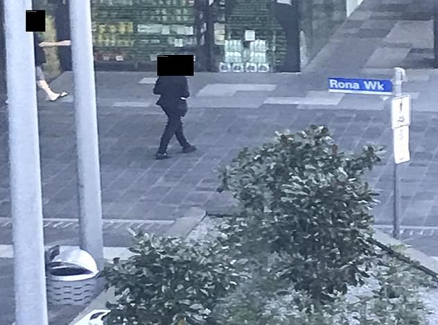Victoria's hotel quarantine inquiry was shown shocking photos (pictured) of quarantine guests walking freely to a convenience store from a Melbourne facility