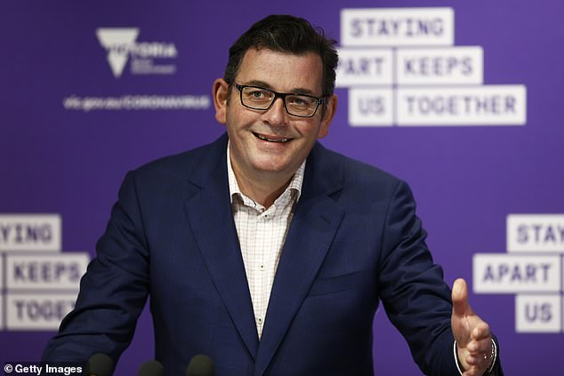 The Victorian premier (pictured) previously denied turning down military help but emails from the prime minister's office show it was offered several times