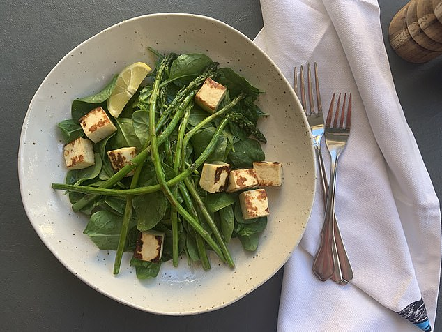 Halloumi and Asparagus Salad