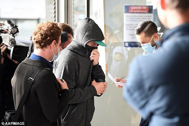 Jarrod Elphick arrives at the Downing Centre District Court in Sydney on June 17