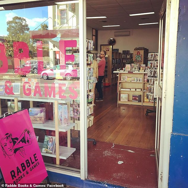 Rabble Books and Games in Western Australia (pictured) will cease stocking JK Rowling books, including titles under Rowling's pseudonym Robert Galbraith