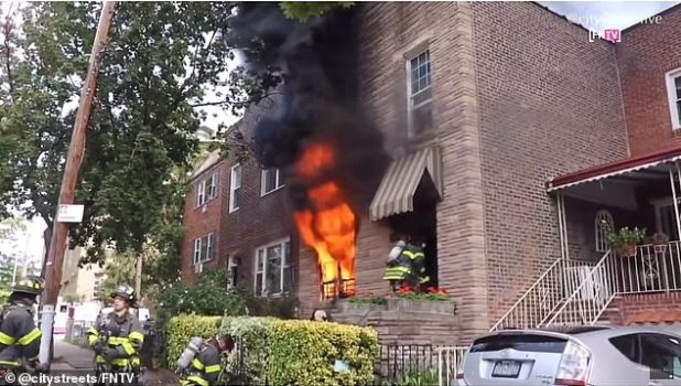 The house caught fire on Tuesday afternoon, but was kept out until 2 in the afternoon