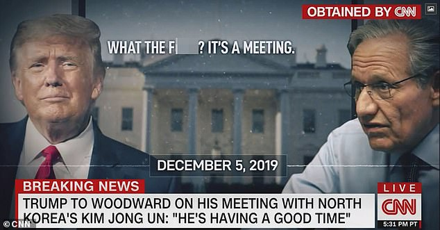 President Trump showed Woodward pictures of them meeting during the interview