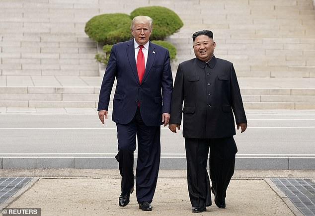 President Donald Trump meets with North Korean leader Kim Jong-Un at the demilitarized zone separating the two Koreas, in Panmunjom, South Korea, June 30, 2019