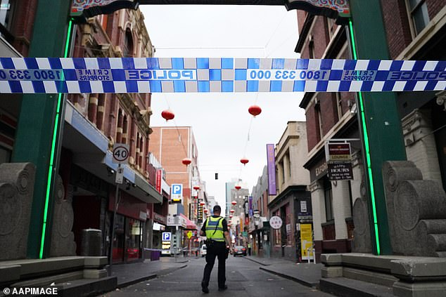 Ms Angok's body was found in Little Bourke St (pictured) in Melbourne on April 24 last year