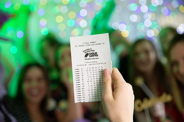 A woman who has been playing the same Lotto numbers for 20 years will step out of Stage Three lockdown in Victoria $20million richer (stock image)