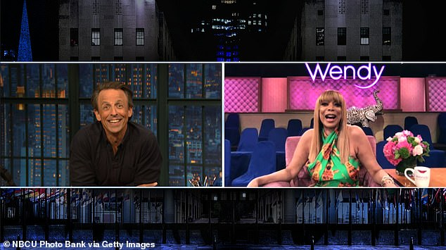 Showering man:'There's an apartment building across, and the man takes showers, and the shower is right there at the window,' Wendy told Seth, 46. 'And I watch'