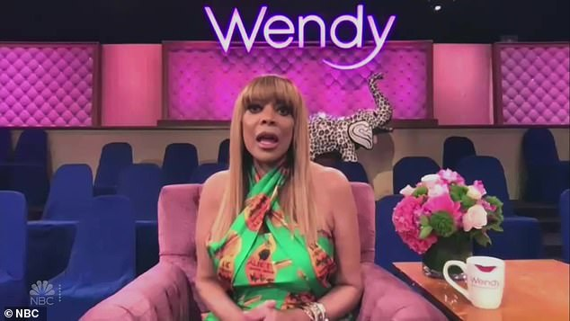 Window watcher:Wendy Williams during a chat show appearance Tuesday said that she's been using binoculars to spy on her showering neighbor during the coronavirus epidemic