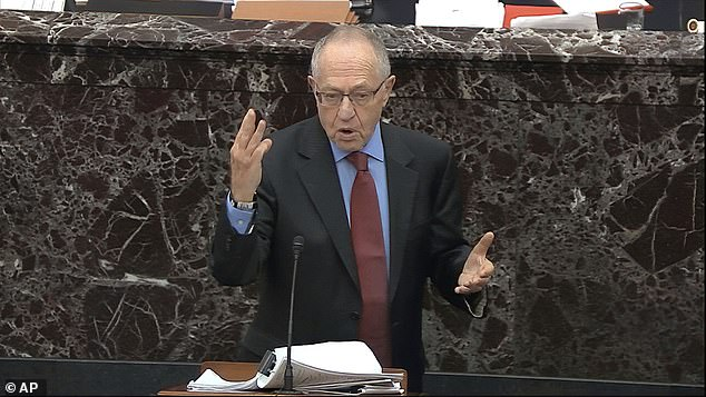 Alan Dershowitz speaks during Donald Trump's impeachment trial earlier this year, where he made comments about presidential powers which he says were misrepresented by CNN