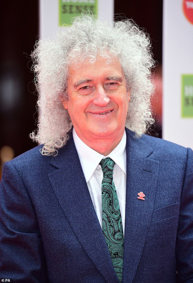 The rock legend, pictured in 13 March 2019, has been rocking a curly mane since the early days of Queen