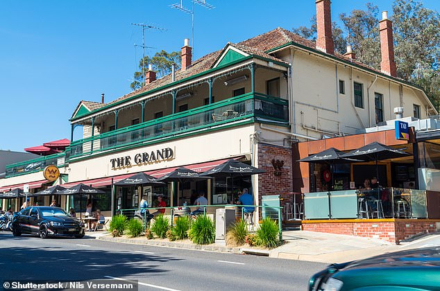 The prime minister will also announce a $52million package of measures to help companies and pubs become more energy efficient with new air-conditioning or roof solar panels. Pictured: The Grand Hotel in Warrandyte, Victoria