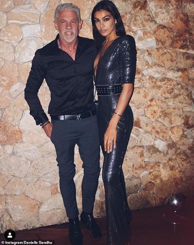 Father-of-four Wayne has been married once and has had several girlfriends, but is thought to have been single since his 2018 split from ex-fiancée Danielle Sandhu (pictured together) in 2018, who was 31 years his junior