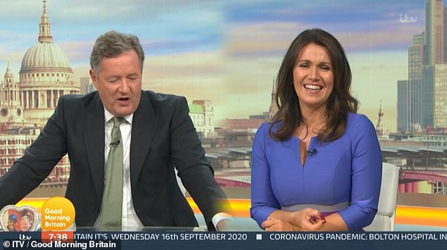 Irate: Piers then went on: 'She's 62 now going on 20. The act doesn't work. It's embarrassing'