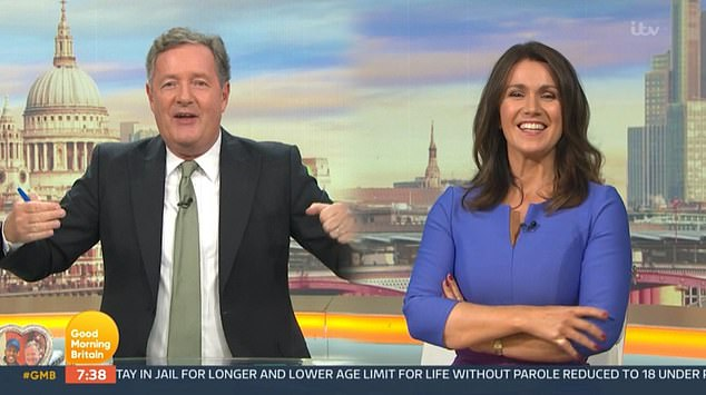 Rage:Despite co-host Susanna Reid trying to defend Madonna by insisted she was just 'getting older,' Piers claimed she was still acting like she was '62 going on 20'