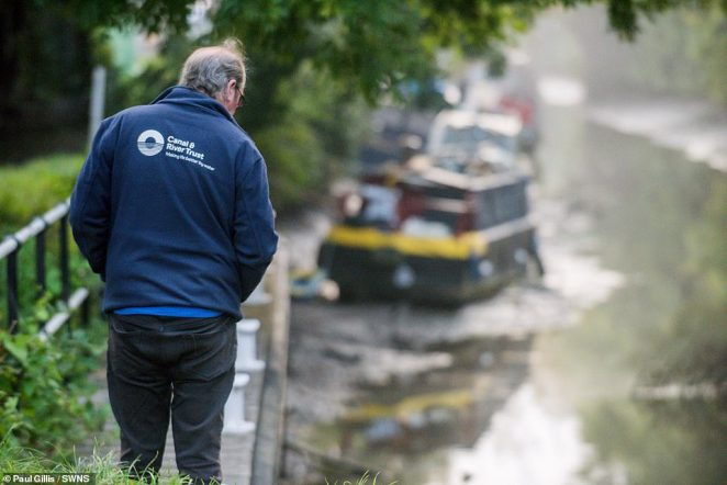 A spokesperson for the Canal & River Trust said: 'The Canal & River Trust, and emergency services were on site to help as soon as we were made aware of the situation'