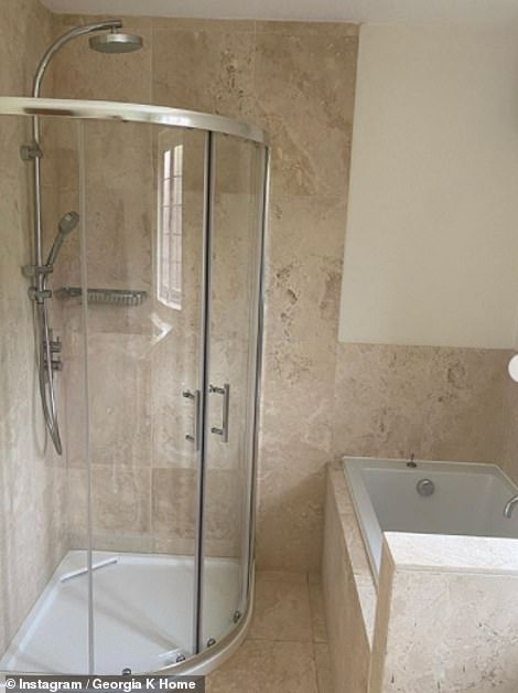 Before:Before and after: Meanwhile, their curved shower screen will be transformed into a wide pan barrier